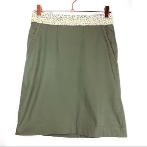 Anthropologie Elevenses Woman's 2 Pocketed Skirt